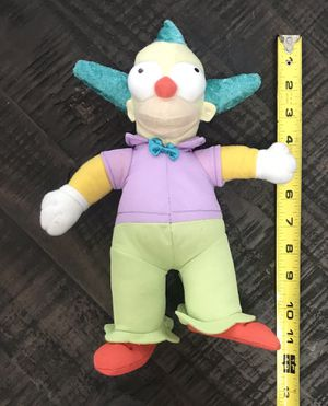 Simpsons Krusty the Clown Plush Toy for Sale in Port St. Lucie, FL