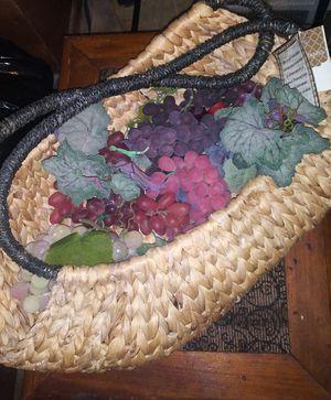 Fake Grapes in basket for Sale in Abilene, TX