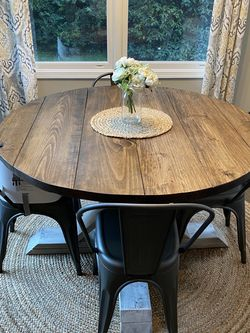Handmade Round Table With 4 Chairs for Sale in Lansdale,  PA