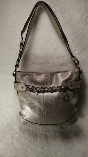 COACH GRAY LEATHER PURSE/CROSSBODY for Sale in University City, MO