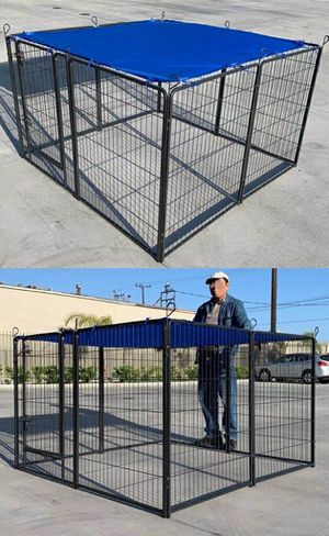 "New 40"" Tall x 32"" Wide Panel Heavy Duty 8 Panels Dog Playpen Pet Safety Fence Adjustable Shape and Space (blue tarp not included) for Sale in Pico Rivera, CA"