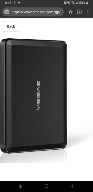 New in sealed box, 500 GB External Hard Drive - MegaZ Backup Slim 2.5'' Portable HDD USB 3.0 for PC, Mac, Laptop, Chromebook for Sale in Tustin, CA