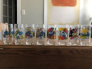 Smurf glass collection for Sale in Houston, TX