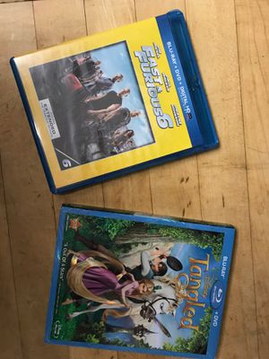 Blu-ray fast and furious 6 and tangled for Sale in Sylmar, CA