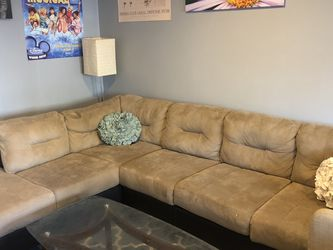 Microfiber 6-seater Sectional Sofa for Sale in Washington,  DC