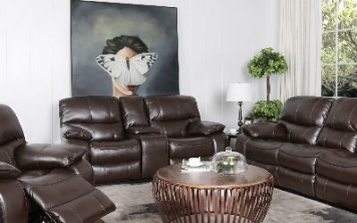NEW MADRID RECLINING SOFA LOVE SEAT AND CHAIR BROWN OR GRAY ONLY $ 1499 NO CREDIT CHECK OR ONE YEAR DEFERRED INTEREST FINANCING AVAILABLE for Sale in Tampa,  FL