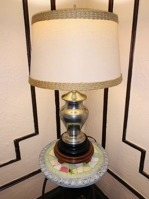 LENOX KIRK STIEFF PEWTER VINTAGE TABLE LAMP #P 110L 23inches for Sale in Quincy, MA