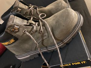 Caterpillar steel toe grey work boots for Sale in South Gate, CA