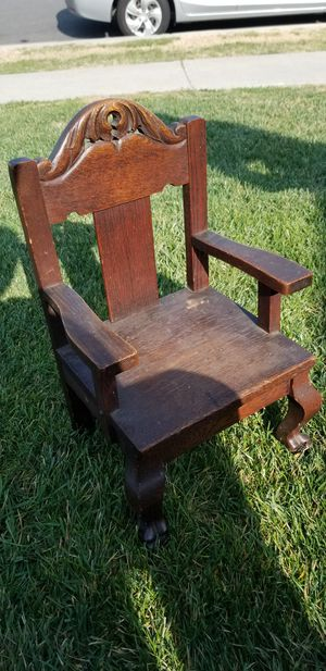 Old vintage antique 1930s oak doll chair great condition for Sale in La Mirada, CA