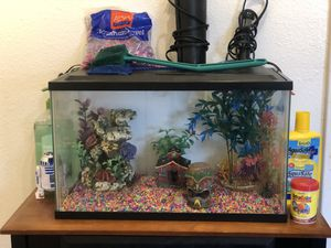 Fish tank & decor for Sale in Englewood, CO