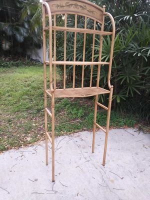 Vintage wrought iron tall shelf for Sale in Largo, FL
