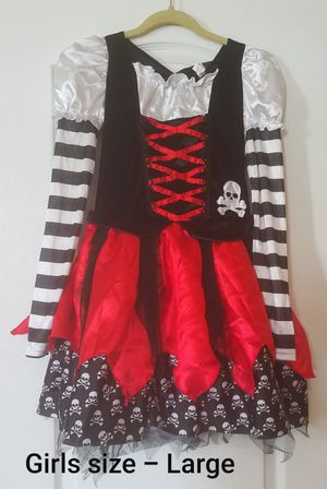 Girls size large pirate/gasparilla halloween costume for Sale in Riverview, FL
