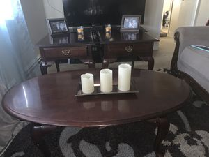 Cherry Mountain Kincaid solid wood end table set for Sale in Cleveland, OH