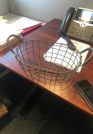 Metal basket for Sale in Tacoma, WA