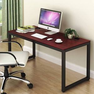 SHW Home Office 55-Inch Large Computer Desk, Black w/Cherry finish for Sale in Fresno, CA