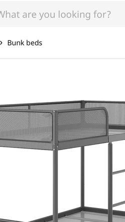TUFFING Bunk bed frame, dark grayTwin for Sale in Tampa,  FL