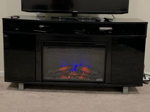 Media center with electric fireplace for Sale in Novi, MI