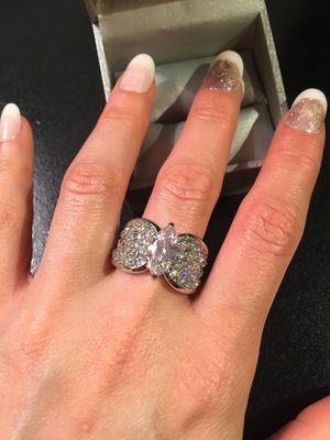 18K White Gold plated Ring - Multi Cut Diamond 💎 💍 for Sale in Dallas, TX