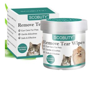 SCOBUTY Pet Eye Wipes,Pet Tear Wipes,Pet Wipes,Eye Tear Stain Remover Wipes for Pets,Natural Tear Eye Stain Remover Pads Soft Grooming Wipes for Sale in Weymouth, MA