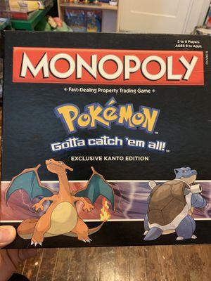 Pokémon Monopoly Exclusive Kanto Edition for Sale in Houston, TX