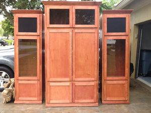 SOLID WOOD HANDMADE SADDLE STAIN CABINETS**ONLY. $80. $80. $80. $80😱😱😱 for Sale in North Miami, FL