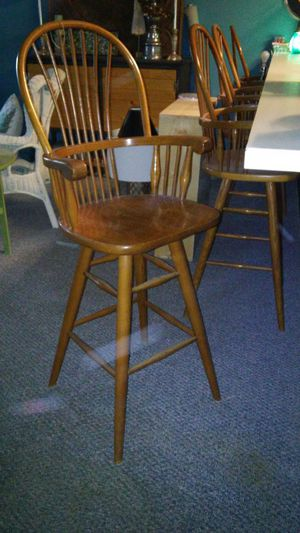 4 solid wood bar stools for Sale in Winston-Salem, NC