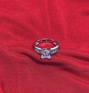 Princess cut 925 sterling silver ring , size 7 for Sale in Whittier, CA
