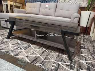 Coffee Table with One Drawer, Distressed Grey, SKU# ID182339CTTC for Sale in Norwalk,  CA