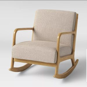 NEW - IN-BOX - ONE (1) - ESTERS MID-CENTURY MODERN CREAM ROCKING CHAIR for Sale in Huntington Beach, CA