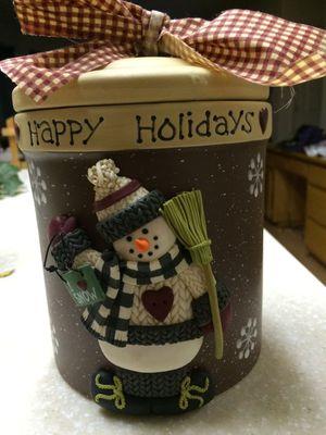 Christmas snowman jar for Sale in Manteca, CA