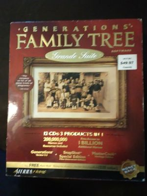 Generations Family Tree Software for Sale in Corning, NY