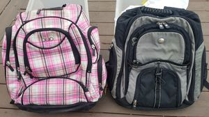 Igio Pink Plaid Street Tech Backpack & Dell Computer Laptop Bag Back Pack for Sale in Lakewood, CO