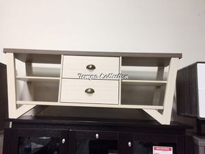 Grace TV Stand for TVs up to 70, Dark Taupe and Ivory, SKU# ID161626TC for Sale in Santa Fe Springs, CA