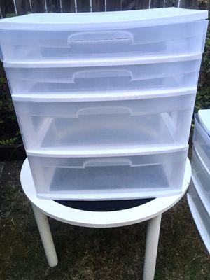 Sterilite 4 drawer for Sale in Tacoma, WA