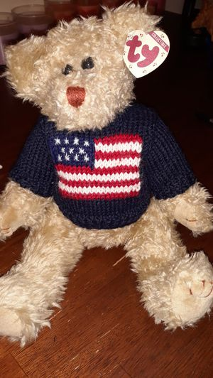 Ty Teddy Bear with American Flag for Sale in Winston-Salem, NC
