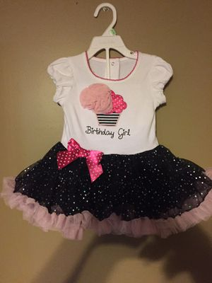 Girls 12 to 18 months birthday girl dress with ruffles and bow New I believe for Sale in New Brighton, PA