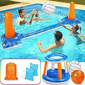 Pool Volleyball Set with Basketball Hoop Set for Sale in Anaheim, CA