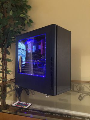 GAMING PC | DESKTOP | COMPUTER | (4.1GHZ & 8 CORE) FX-8350 AND RX 470 w/8GB OF RAM | CONTROLLABLE RGB for Sale in Silver Spring, MD