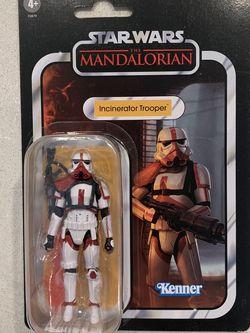 "Incinerator Trooper The Mandalorian Vintage Black Series *MINT* 4"" 3.75"" Star Wars VC177 Kenner F0879 Action Figure Stormtrooper Hasbro retro Disney for Sale in Lewisville,  TX"