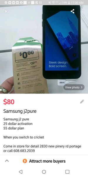 Samsung j2pure for Sale in Portage, WI