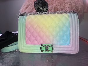 Rainbow Chanel Boy Bag for Sale in Bowie, MD