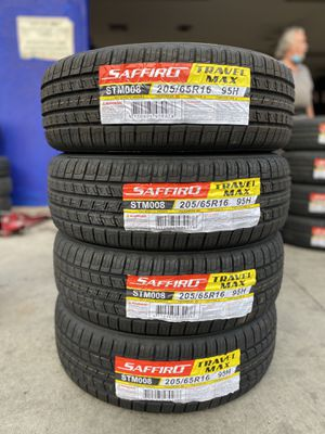 205/65R16 FOUR BRAND NEW TIRES , INSTALLATION & BALANCING INCLUDED for Sale in Rialto, CA