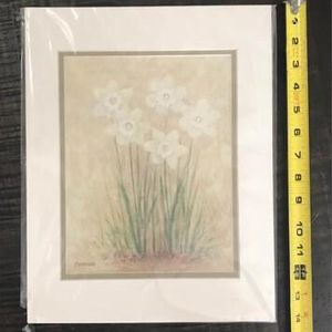 Matted Print Flowers Ready to Frame just $3 for Sale in Port St. Lucie, FL