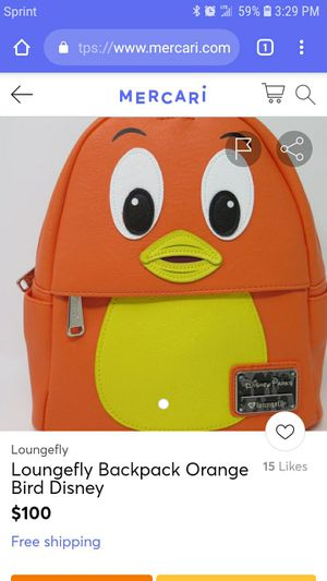 Disney the Big Orange Bird backpack by Loungefly collection for Sale in Rialto, CA