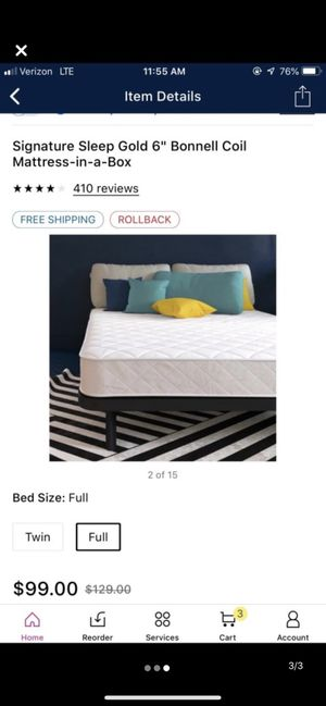 Bed and frame for Sale in Lansing, MI