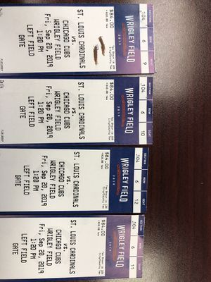 Cubs vs Cardinals tickets for Sale in Bellwood, IL