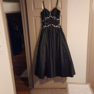 Black Satin And Sequin Prom Dress Only Worn One Time In Perfect Condition for Sale in Douglasville, GA