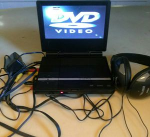 Portable DVD Player with Charger, Headphones & Cable to hook to TV for Sale in Haltom City, TX