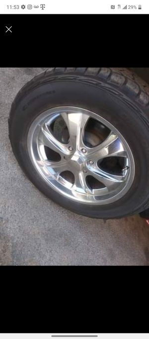 20 inch rims Six lug mud tires for Sale in Fresno, CA