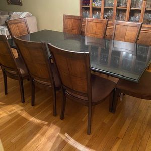 Beautiful Black Granite Table for 8 People for sale ASAP! for Sale in Brooklyn, NY